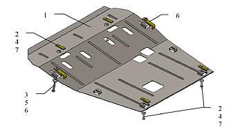 Защита двигателя и КПП на Renault Dokker (ПРЕМИУМ) —  KOLCHUGA (Украина) - 2.0546.00