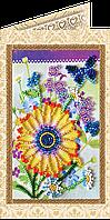 Набор-открытка для вышивки бисером «Праздничный букет»