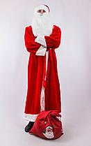Карнавальный костюм Деда Мороза (взрослый): халат, шапка, борода, пояс и варежки., фото 3