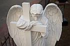 Ангел с крестом из искусственного мрамора - 175 см, фото 5