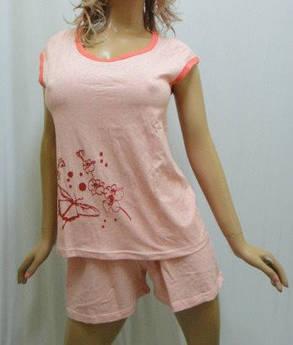 Пижама женская, домашний костюм- футболка и шорты, хлопок , фото 2