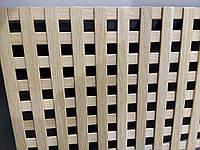 Решетка декоративная деревянная 6,2R  1500x800 мм(клен,ольха,дуб,бук)