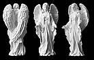 Ангел с искусственного мрамора - 43 см, фото 2