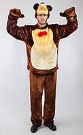 """Карнавальный костюм медведя для взрослого """"Маша и медведь"""": кофта, штаны, варежки и шапка."""