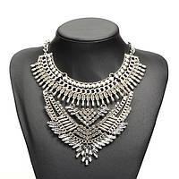 """Массивное колье """"Флоренция"""" (цвет: серебристый) подвеска, ожерелье"""