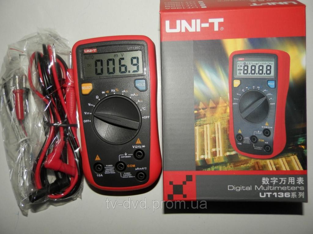 Цифровой мультиметр   UNI-T UT136C термопара
