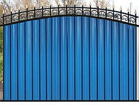Забор из профнастилом - Эконом