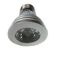 Лампа светодиодная 3W E27 RGB с пультом 85-230V