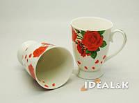 """Фарфоровая чашка  """"IDEAL- K"""" MP-06   """"Роза Киев""""  320 мл., Идеал (Украина)"""