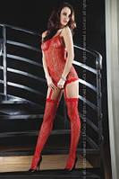 Соблазнительный красный бодикомбинезон CATRIONA RED Livia Corsetti