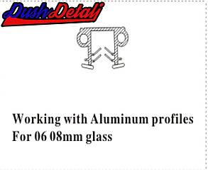 Уплотнитель жесткий для стекла душевой кабины П-образный ( ФС20), фото 2