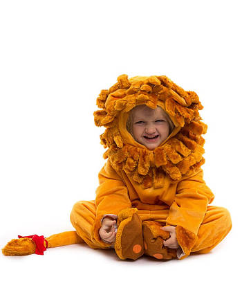 Костюм Льва. Для детей от 0,5 до 2,5 лет. В комплект входит: комбинезон, шапочка и тапочки. , фото 2