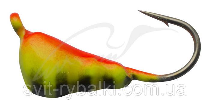 Мормышка вольфрамовая Shark Муравей с ушком 0,85г диам. 4,0 мм крючок D14 ц:Mat Tiger #123