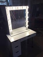 Стол для визажиста (макияжа) гримерный с подсветкой V102