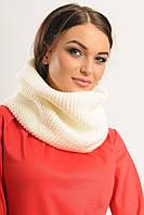Великолепный шарф-хомут! Снуд. Капор белый