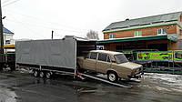 Прицеп автовоз для легкового автомобиля 6,1м х 2,1м х 1,9м плюс бортовой. Два тормозных торсиона!