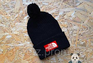 Зимняя шапка с бубоном The North Face ( разные цвета ) , фото 3