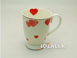 """Фарфоровая чашка  """"IDEAL- K"""" MP-06  """"ВАЛЕНТИНКА  мал. сердца""""   320 мл., Идеал (Украина)"""