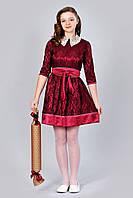 Гипюровое подростковое платье