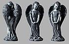 Скульптура ангелочка из искусственного мрамора № 3 (тонированный), фото 2