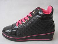 Ботинки сникерсы детские черные 31-36 ростовка 8 пар.