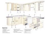 Встроенная кухня под заказ углоая изготовление по индивидуальному размеру-проекту, фото 8