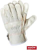 Защитные перчатки, усиленные яловой кожей  (кожаные рабочие REIS Польша) RLJ BEJK