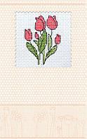 Набор-открытка для вышивки крестом «Тюльпаны»