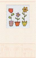 Набор-открытка для вышивки крестом «Цветочки в горшочках»