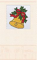 Набор-открытка для вышивки крестом «Новогодний колокольчик»