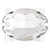 Овалы пришивные хрустальные Preciosa (Чехия)  10х7 мм, Crystal