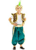 Костюм Восточного принца Аладдина Султана: жилетка, шорты, браслеты, и шапочка с пером., фото 2
