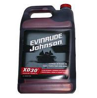 Масло XD-30 - 4 литра для двухтактных лодочных моторов BRP Evinrude Johnson (США)