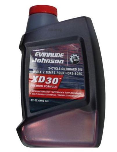 Масло XD30 - 1литр для двухтактных лодочных моторов BRP Evinrude Johnson (США)
