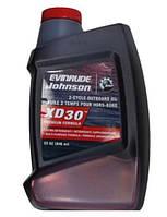 Масло XD30 - 1 литр для двухтактных лодочных моторов BRP Evinrude Johnson (США)