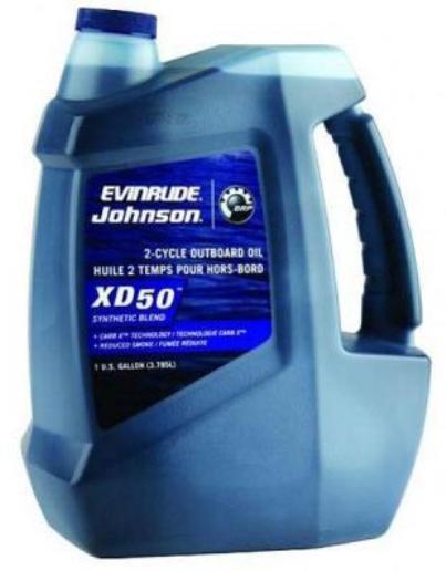 Evinrude Johnson XD50 - масло 1 литр для двухтактных лодочных моторов BRP (США)
