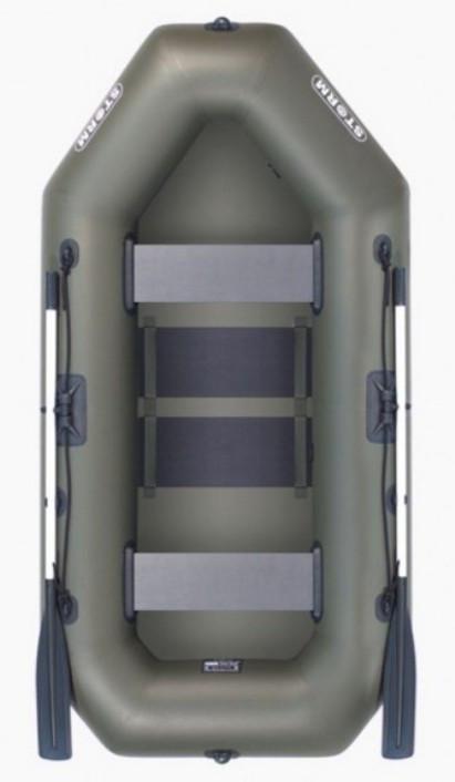 Aqua Storm sto250 - лодка надувная двухместная Шторм 249 с реечным ковриком