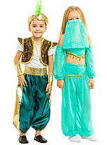 Костюм Восточного принца Аладдина Султана: жилетка, шорты, браслеты, и шапочка с пером., фото 3