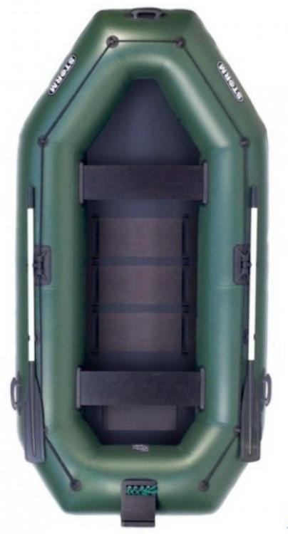Aqua Storm SS300Dt - лодка надувная двухместная Шторм 300 с навесным транцем и ковриком