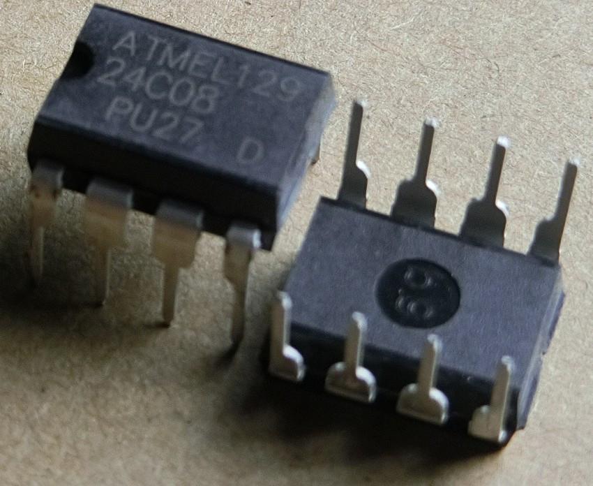 Микросхема  24C08 AT24C08 AT24C08A 24C08AN DIP-8 EEPROM