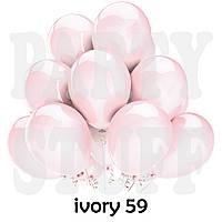 Воздушные шарики Gemar G90 пастель Айвори 10' (26 см) 100 шт