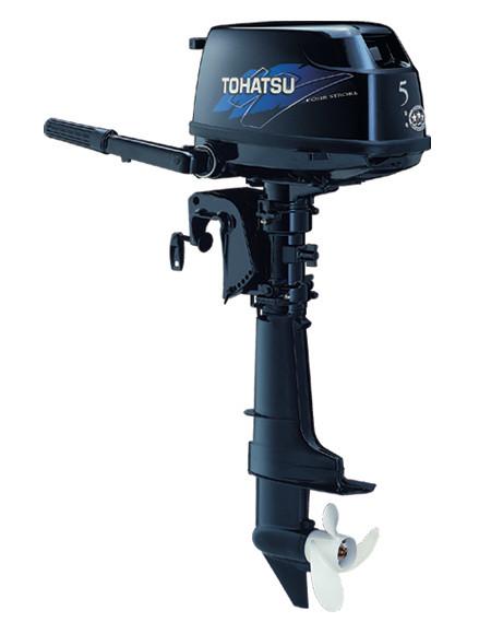Tohatsu MFS5CSS - мотор лодочный четырехтактный Тохатсу 5 с выносным баком