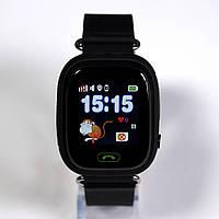 Детские умные gps часы Smart baby watch Q100 Black Оригинал На русском языке