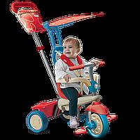 Велосипед  3-х колесный с ручкой и корзиной  Smart Trike Vanilla 4в1 красно-голубой