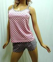 """Пижама женская майка с шортами, домашний костюм """"сердце Святого Валентина"""""""