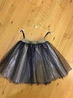 Детская юбка в мелкий горошек