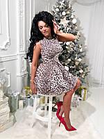 Платье Жаккардовое леопардовый принт