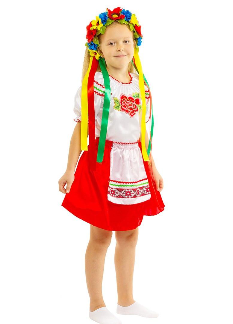 Костюм Украиночки: кофта, юбка с фартуком и веночек.