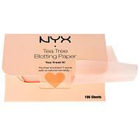 NYX Tea Tree Blotting Paper - Матирующие салфетки для лица, 100 шт