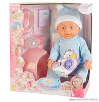 """Пупс """"Warm Baby""""(аналог Baby Born), пьет, писает, с горшком, соской (ОПТОМ) 8004-403 В"""